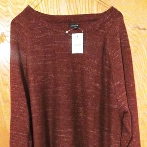 J Crew burgundy 100% cotton Crew neck sweater Lg